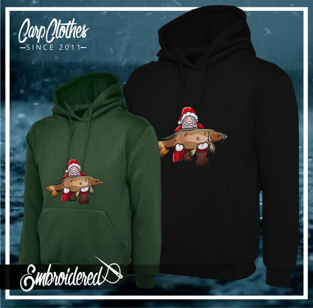 CHILD 031 EMBROIDERED CARP CHRISTMAS HOODIE